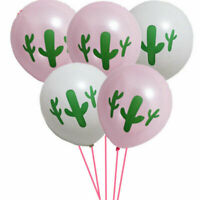 Hawaii Latex Balloons Supplies Forest Decorations Tropical Cactus Party 10pcs