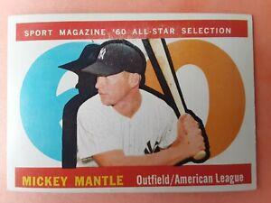 """1960 Topps Baseball Set Break: #563 Mickey Mantle """"All-Star"""" (Yankees)"""