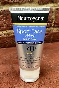New Neutrogena Ultimate Sport Face Sunblock Lotion SPF 70 2.5oz Oil-Free Beach