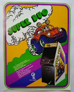 Atari Super Bug Arcade FLYER Original 1977 Retro Video Game Paper Retro Artwrok