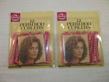 2 Vintage Goody Perm Rod Curlers Pink Medium 12 Count 1982 #430/3 NEW SEALED