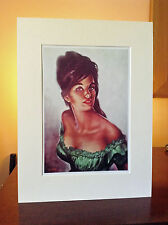 Tina in Green Dress J H Lynch Tretchikoff Era - 16 x 12 Inch Mounted Art Print