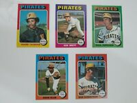 1975 Topps Baseball 5 Card Pittsburgh Pirates lot.  Very Good to Excellent-NRMT.
