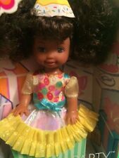 Kelly Barbie Friend Deidre Birthday Party Child Doll AA SIS Afro Pigtails NRFB