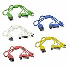 4in1 USB Ladekabel iPhone Smart HTC Samsung Kindle Digitalkamera versch. Farben