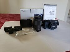Canon EOS M3 24.2MP Digital Camera - Black + 2 lenses