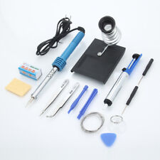 Hot 14in1 60W 110V Electric Soldering Iron Tools Kit Stand Desoldering Pump Set
