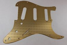 Engine Turned Gold Anodized Aluminum SSS Strat Pickguard for Fender Stratocaster