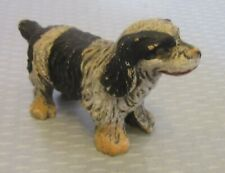 antique painted COMPOSITION SPANIEL DOG MINIATURE FIGURINE springer cocker 2.5""
