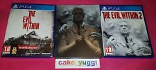 THE EVIL WITHIN NEUF SONY PS4 + THE EVIL WITHIN 2 OCCASION SONY PS4 + STEELBOOK