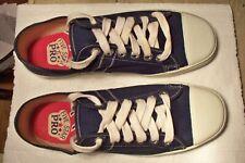 Rare Vintage Htf Five Star Pro Blue Canvas Low Top Tennis Shoes Men 10 New