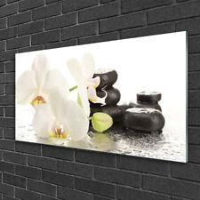 Wandbilder 100x50 Glasbild Druck auf Glas Steine Kerzen Handtücher Kunst