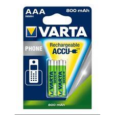 2x VARTA Phone-Akku 56398 Micro AAA HR03 800mAh Telefon Accu NiMH