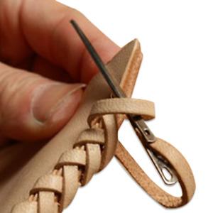 3Pcs Leather Rope Needle Knitting Needles DIY Leathercraft Sewing Tool Accessory