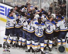 2019 St. Louis Blues Celebration Stanley Cup Finals 8x10 Authentic Photo 4