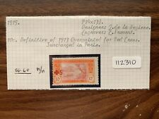 Ivory Coast 1915 Red Cross Surcharged (1v) (SG 60) M/H (112310)