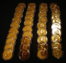 LOT OF 20 - 24 KT GOLD PLATED J.F KENNEDY 50 CENT - (20) COIN SET EACH IN HOLDER