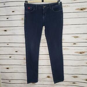 Opcao Size 44 Brazilian Womens Skinny Blue Jeans Casual Designer Denim Pants