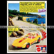 Mattel Vintage BARBIE Super'Vette (Corvette Car) 1979 Pub / Publicité / Ad #A186