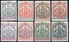 Rhodesia 1897 1/2d-£1 Large Arms Re-Engr SG66-73 Sc50-57 UMM/VLMM Cat£450($607)+