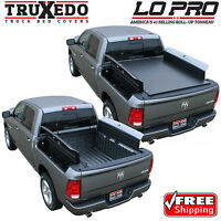 TruXedo Lo Pro Roll Up Tonneau Cover for Ram 1500 2500 3500 6.4' Bed w/ RamBox