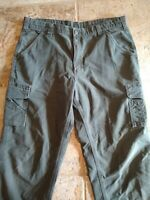 Carhartt Cargo Pants Dungaree Fit Canvas Cotton Work Pants Mens 38x34  Green