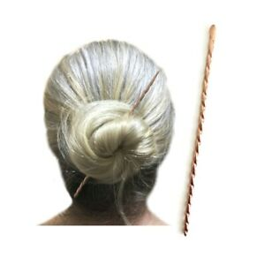 Twisted Copper Hair Stick, Metal Hair Pin, Minimalist Man Bun Holder, Gift