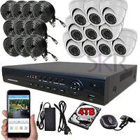 Sikker Standalone 16 Ch DVR 10 pcs 2 Megapixel 1080P Security Camera System 4TB