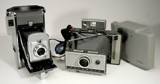 Set Of 2 - Vintage 1950's Polaroid Model 80A AND Later Model 230 Land Cameras