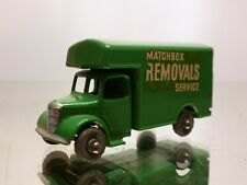 MATCHBOX LESNEY 17 BEDFORD TRUCK- REMOVALS SERVICE - GREEN - VERY GOOD CONDITION