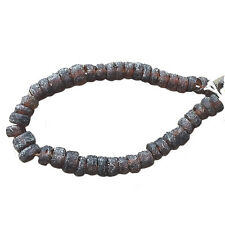 Brown Recycled Glass Beads 12mm Strand 18 inches