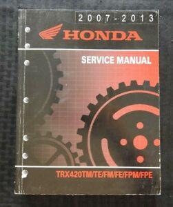 2007-2013 HONDA 420 TRX420 Tm Te Fm Fe Fpm Fpe Atv Servicio Reparar Manual Nice