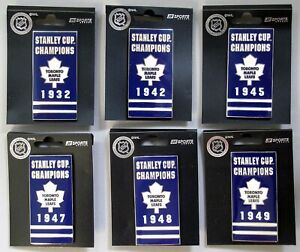 TORONTO MAPLE LEAFS  - FULL SET OF 11 LARGE STANLEY CUP BANNER PINS -- ALL NEW!