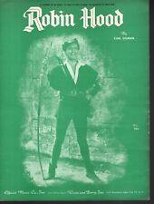 Robin Hood 1955 Richard Greene 1950's Television Series Sheet Music