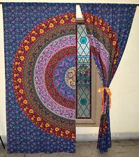 Colorful Mandala Curtain Boho Window Treatment Set Balcony Door Hanging Drapes