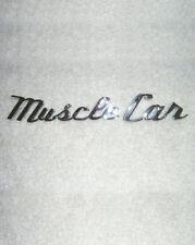 MUSCLE CAR Chrome Script Automotive Lettering Emblem
