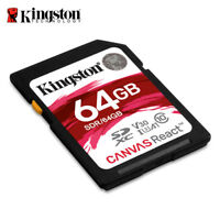 Kingston Canvas React 64GB SDXC Class 10 SD Memory Card UHS-I100MB/s