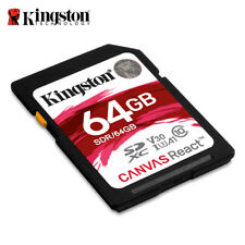 Kingston Canvas React 64GB SDXC Class 10 SD Memory Card UHS-I100MB/s