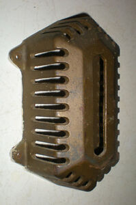 SALE ! Antique 1920s Cast Iron Thermostat Cage School Gymnasium Heat Gauge Cover