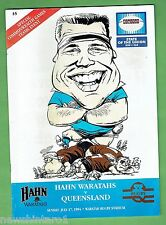#FF.  WARATAHS V QUEENSLAND  RUGBY UNION PROGRAM  17/7/1994