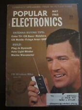 Popular Electronics Magazine May 1965 FM Wireless Mike (T)