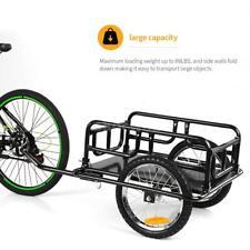 iKayaa Folding Bike Cargo Hand Wagon Bicycle Luggage Trailer Storage Cart H1O3