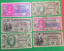 Military Payment Certificates Set of 6 MPCs! Old US Paper Money Currency Wartime