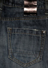New KAREN MILLEN Regular Fit Mid rise Boot Cut Women's blue Jeans Sz 6 or 28x30