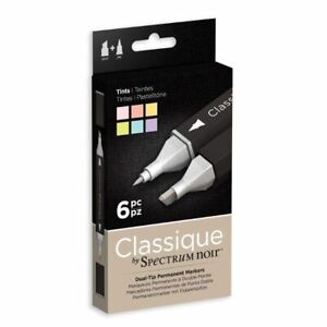 Spectrum Noir - Art + Craft Alcohol Marker Pen Classique Set - Tints (6PK)