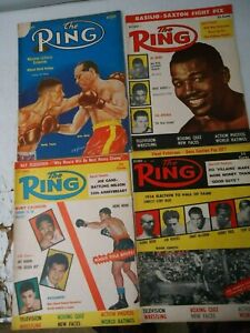 LOT OF 4 The Ring Boxing Magazines SEPT-OCT-NOV-1956 DEC-1953! ARCHIE MOORE