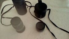 A lot of Two Minolta Telephoto Lenses AF 28 and AF 100 with cases