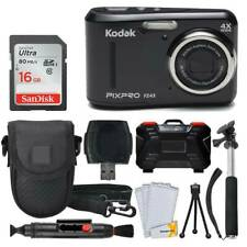 Kodak PIXPRO FZ43 Digital Camera (Black) + 16GB Card + Case + Monopod - Top Kit
