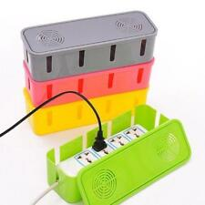 NEW New Cable Storage Box Wire Management Socket Safety Tidy Organizer Home Room