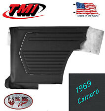 1969 Camaro Black Vinyl Quarter Panels by TMI - Made in the USA -- In Stock!!
